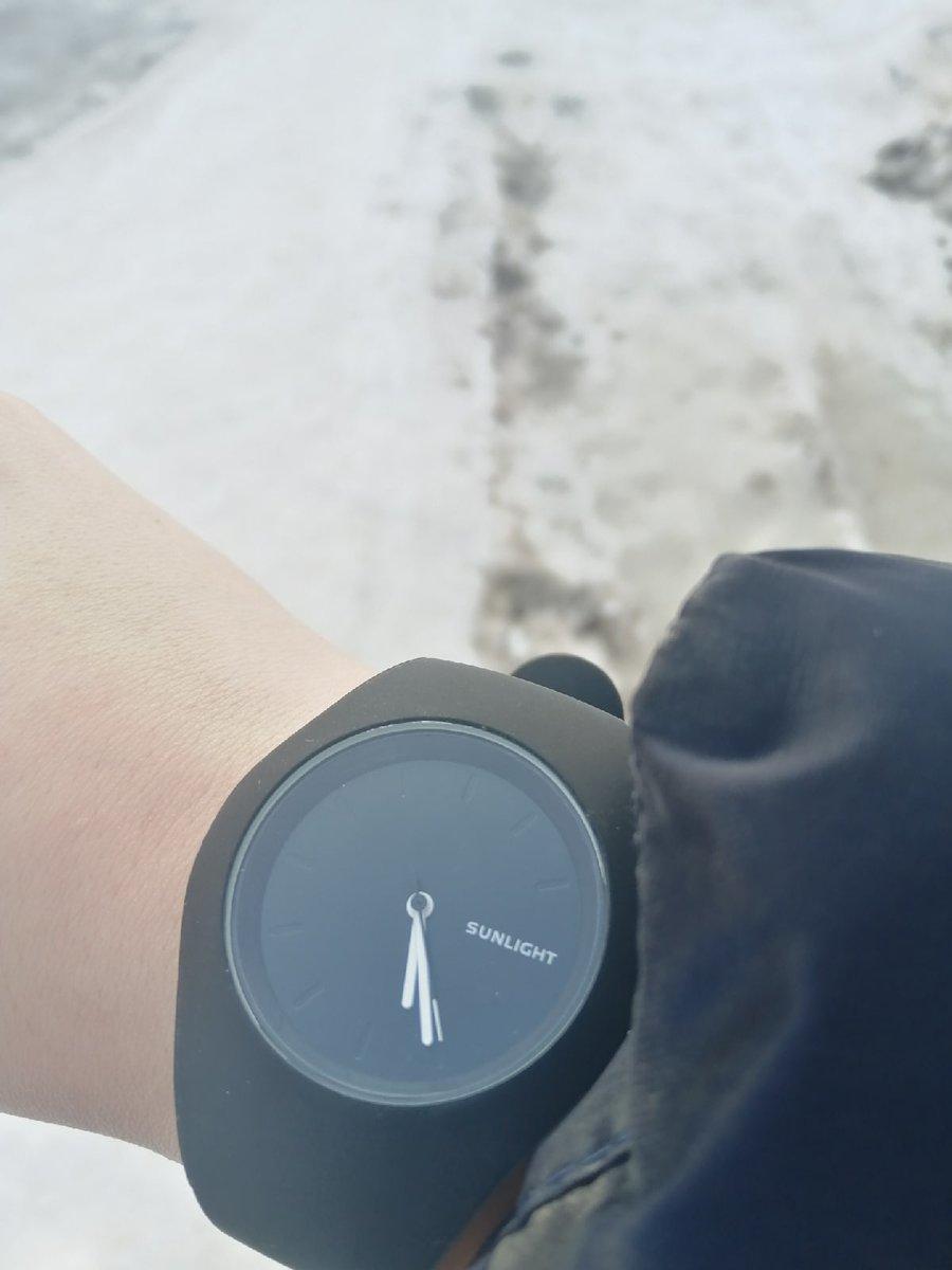Часы, с силиконовым ремешком