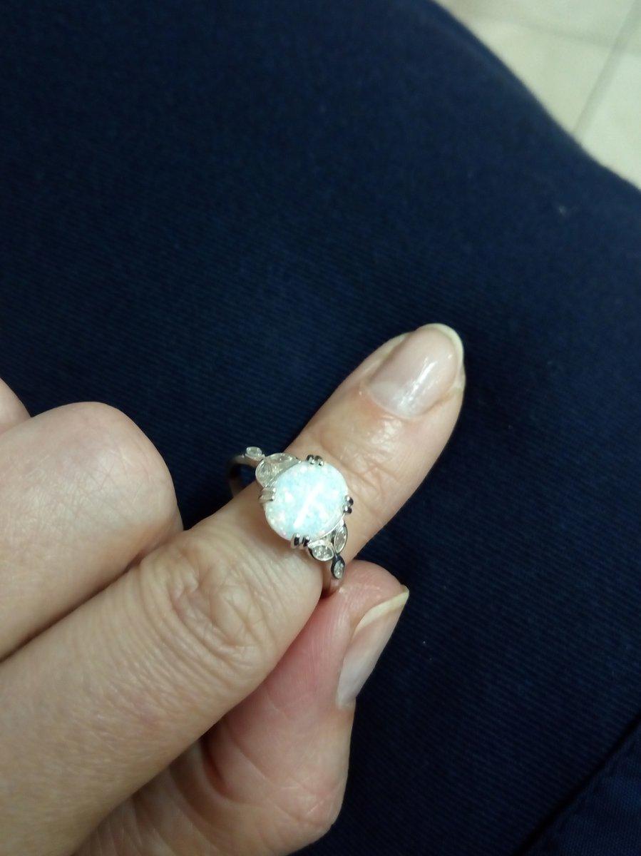 Кольцо с природным опалом