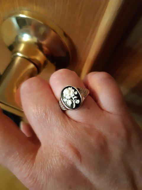 Кольцо с агатом и фианитом