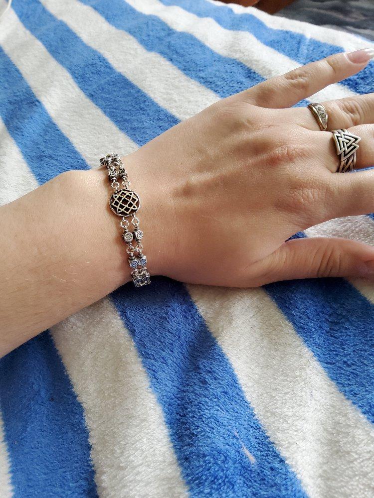 Славянский серебряный браслет.