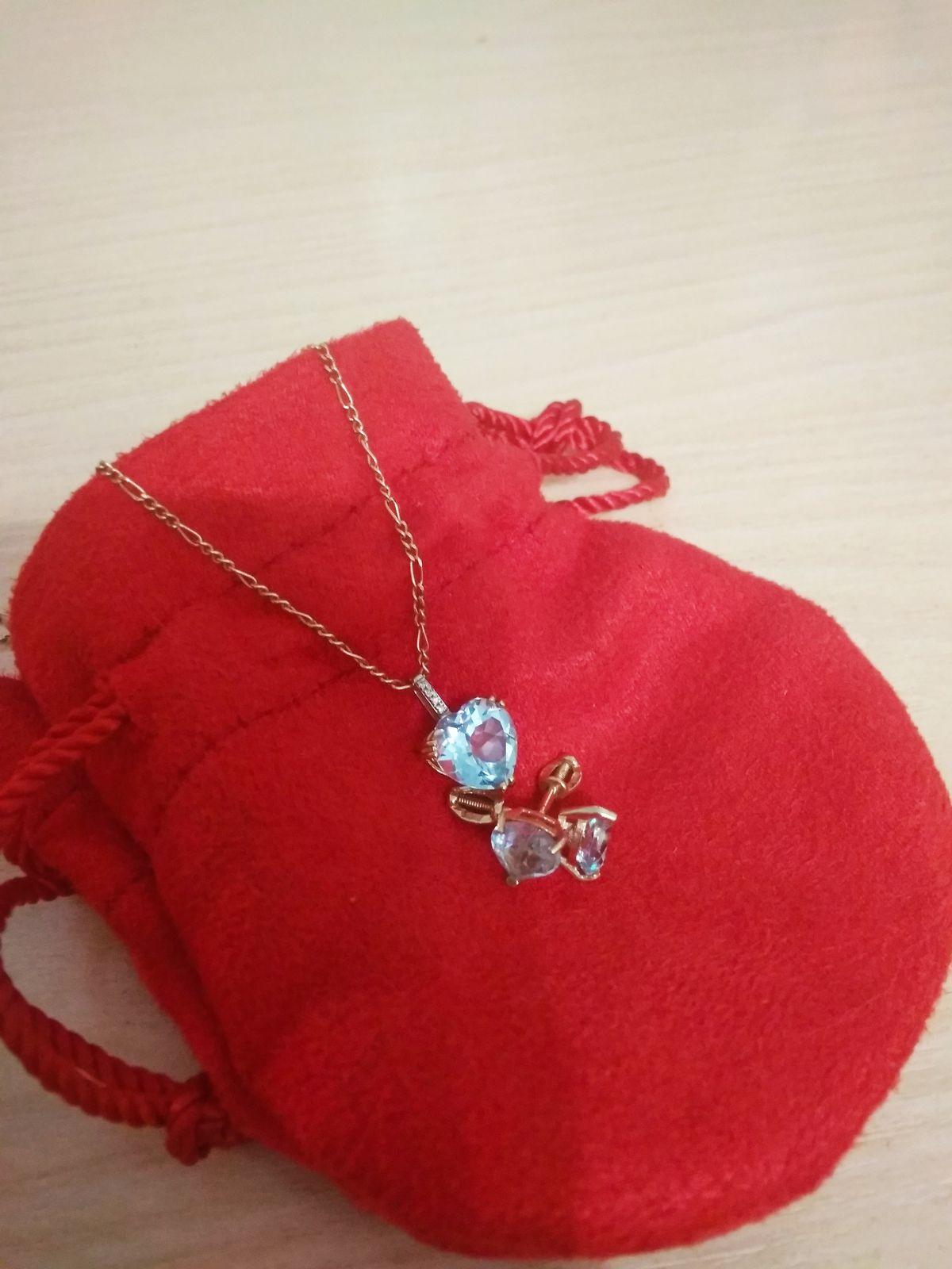 Топаз с бриллиантами