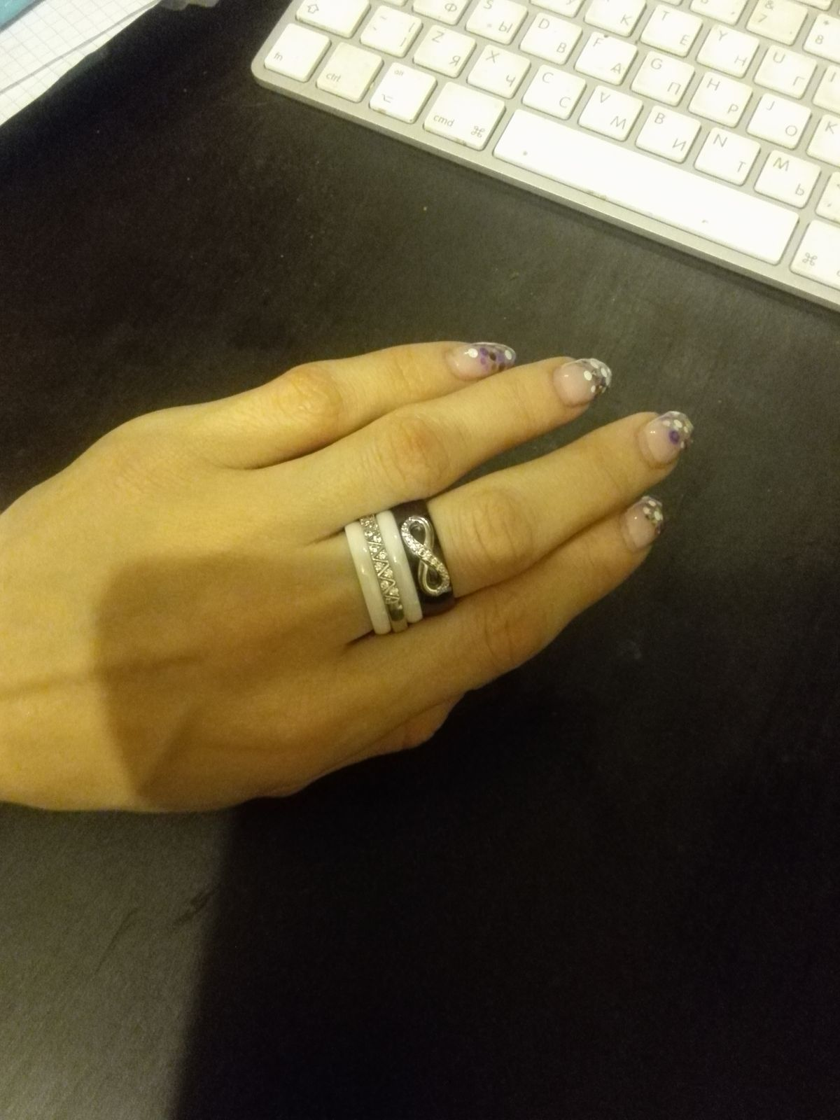 Красивые стильные нежные кольца