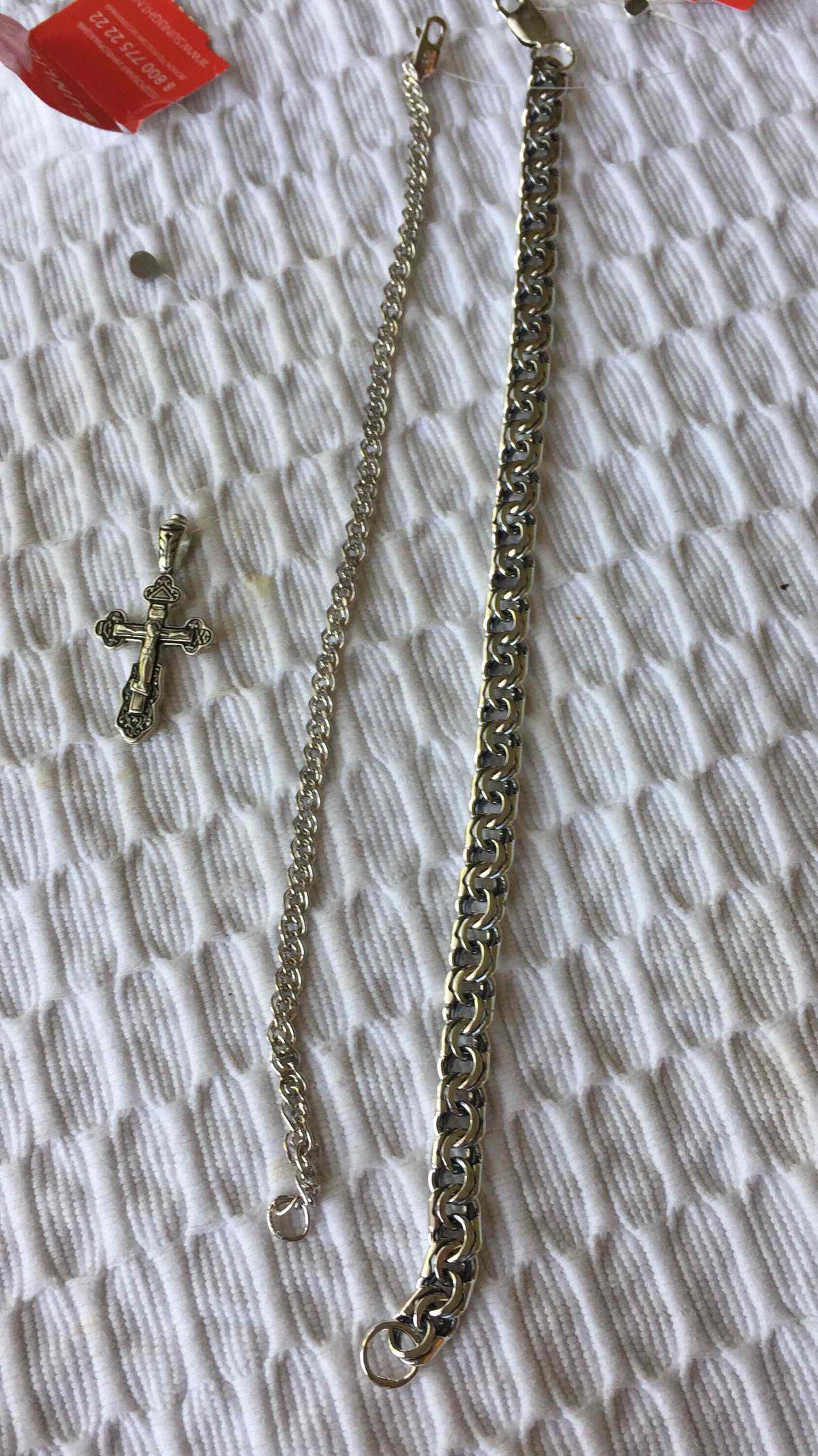 Серебро крестик нательный