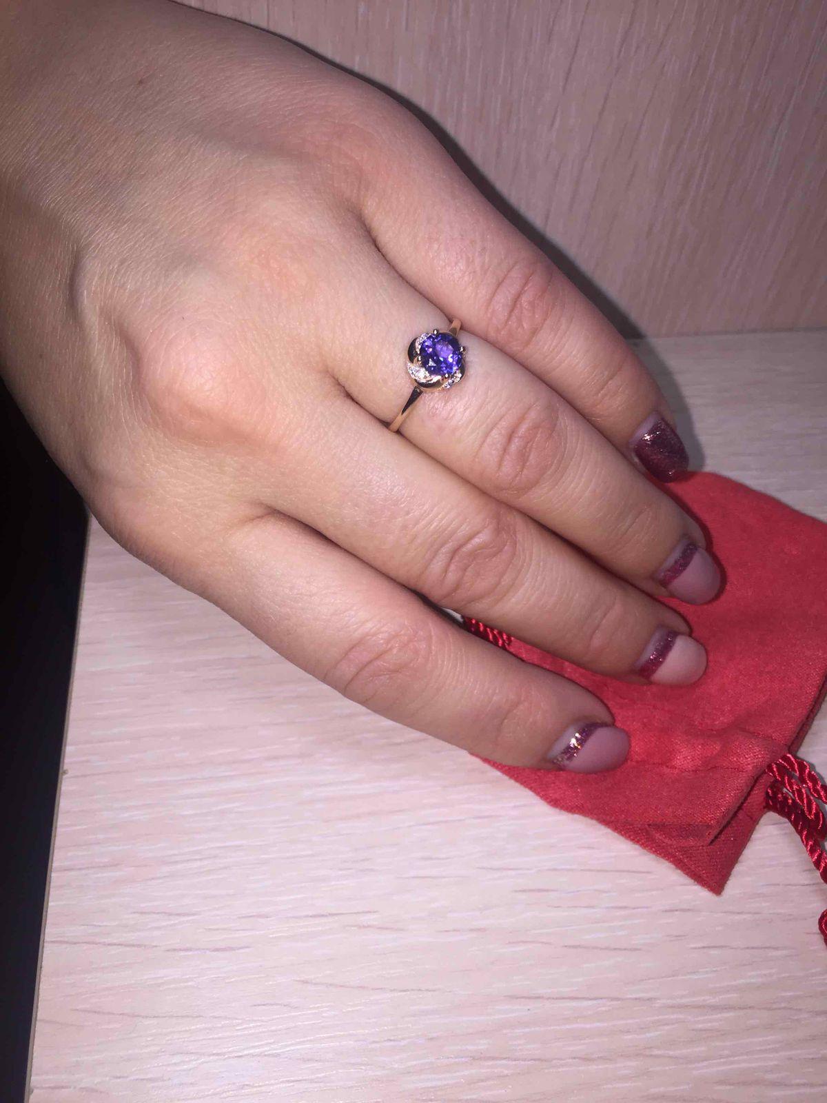 Золотое кольцо с танзанитом