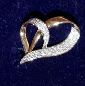 Кулон с бриллиантами