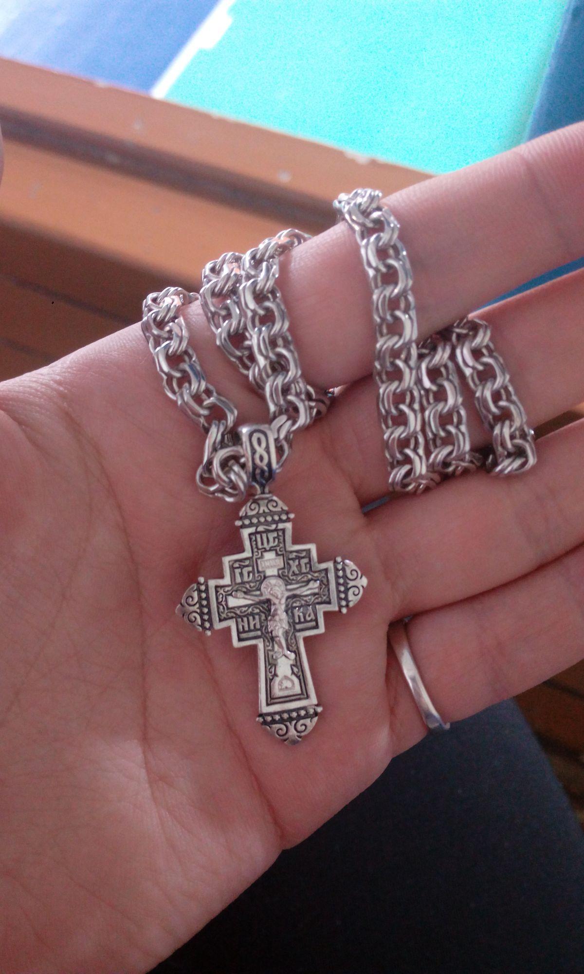 Серебряный крестик!