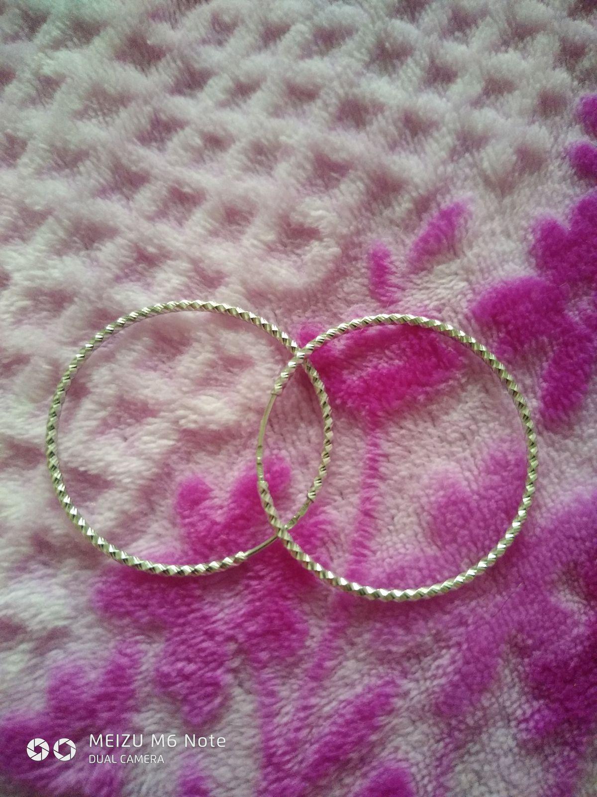 Серьги серебряные, кольца