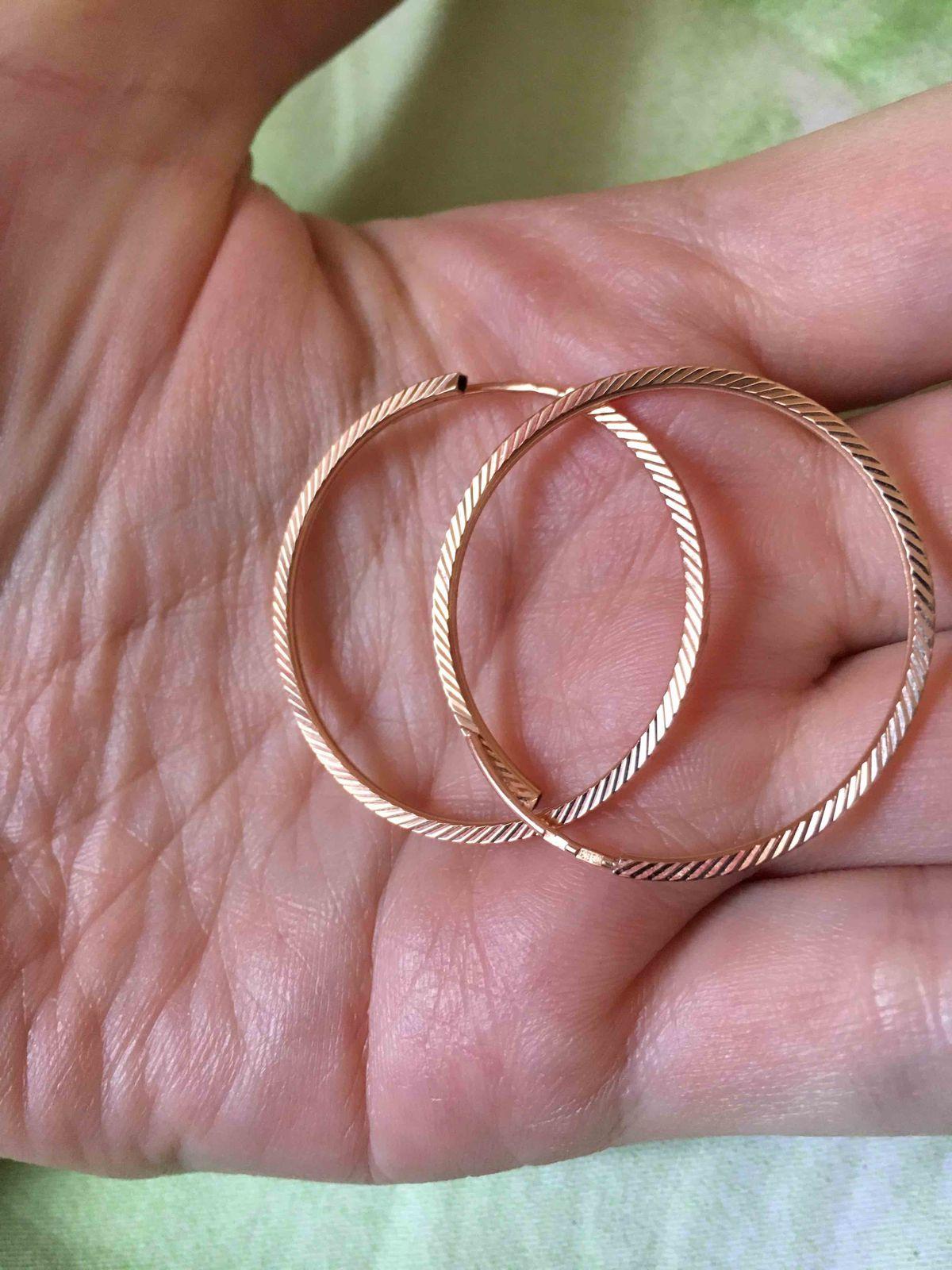 Вау! шикарные серьги-кольца!