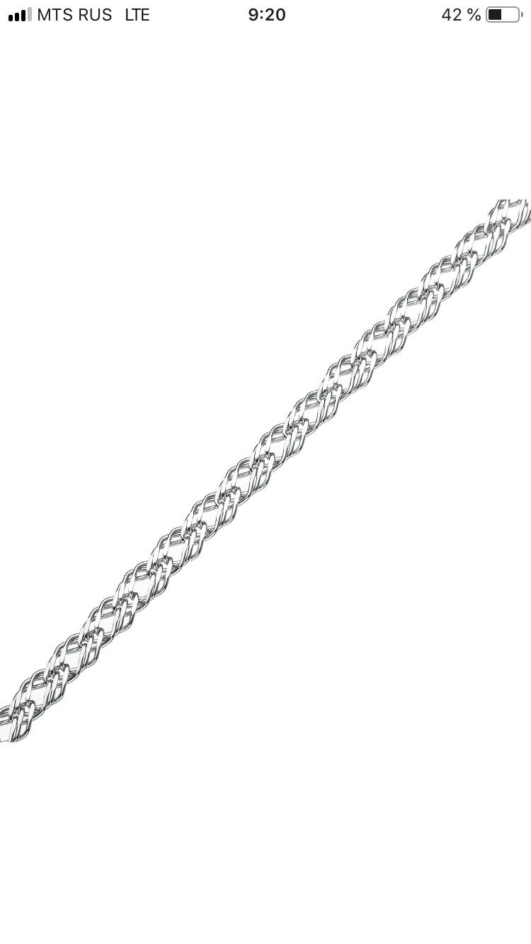 Серебрянная цепь для любимого мужчины