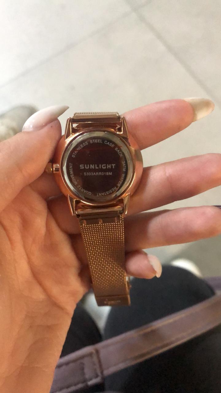 Часы розовое золото