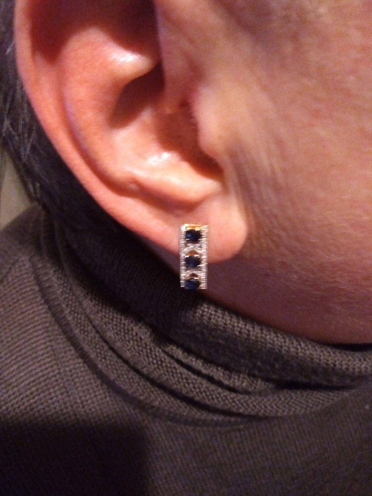 Серьги с сапфирами бриллиантами