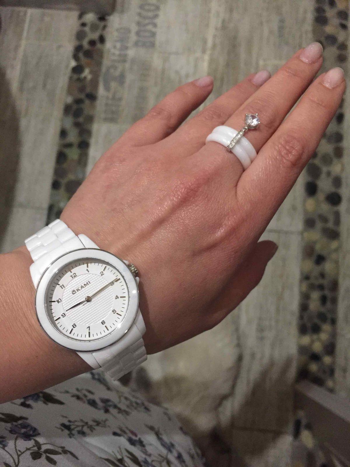 Белые часы керамика!