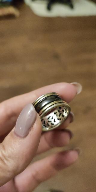 Серебрянные кольцо с вращающимся элементом