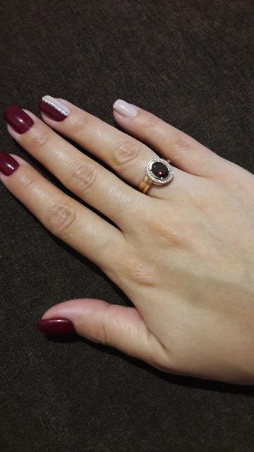Классика, кольцо с гранатом