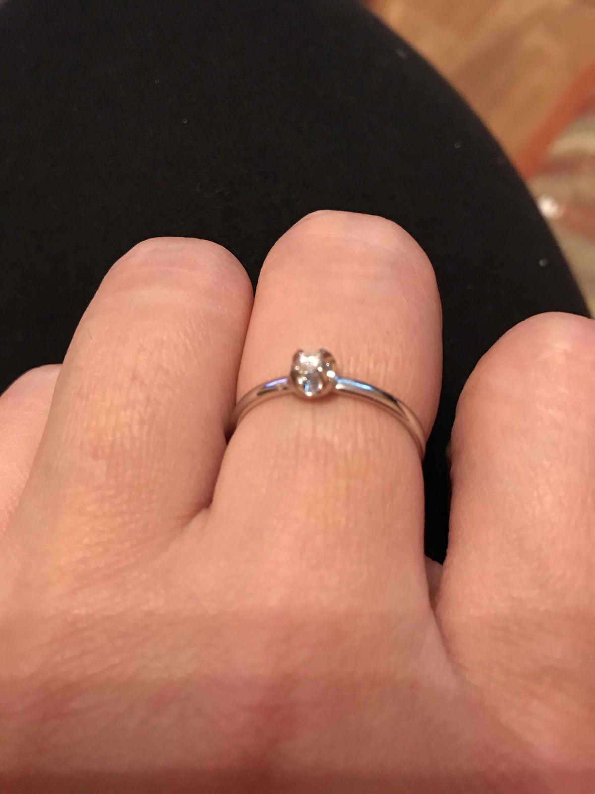 Очень красивое бюджетное кольцо с бриллиантом