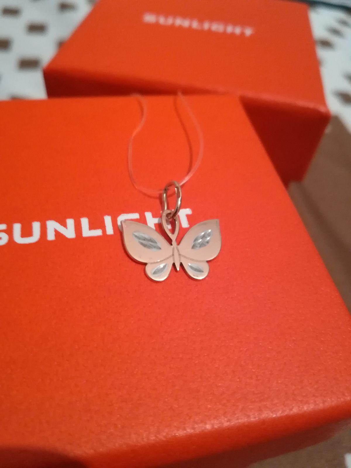 Золотая подвеска - милая бабочка