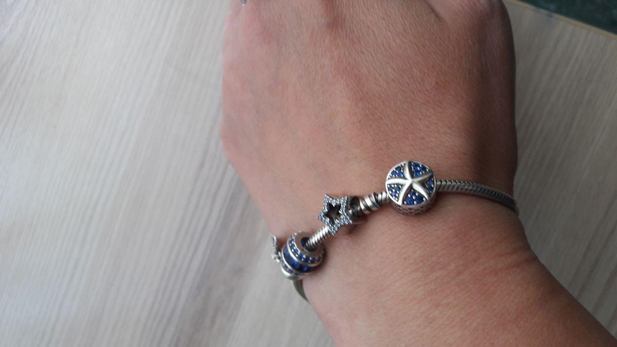 Шармик с синими фианитами и морской звездой.