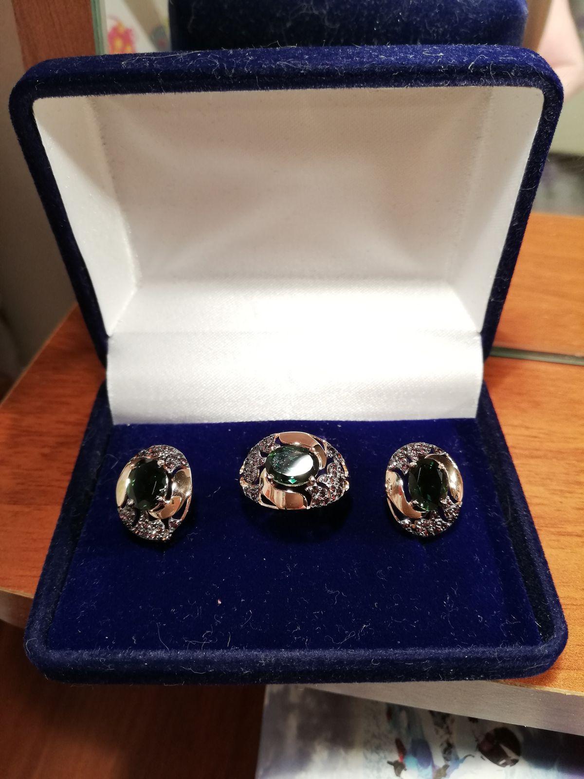 Мой любимый комплект серьги и кольцо