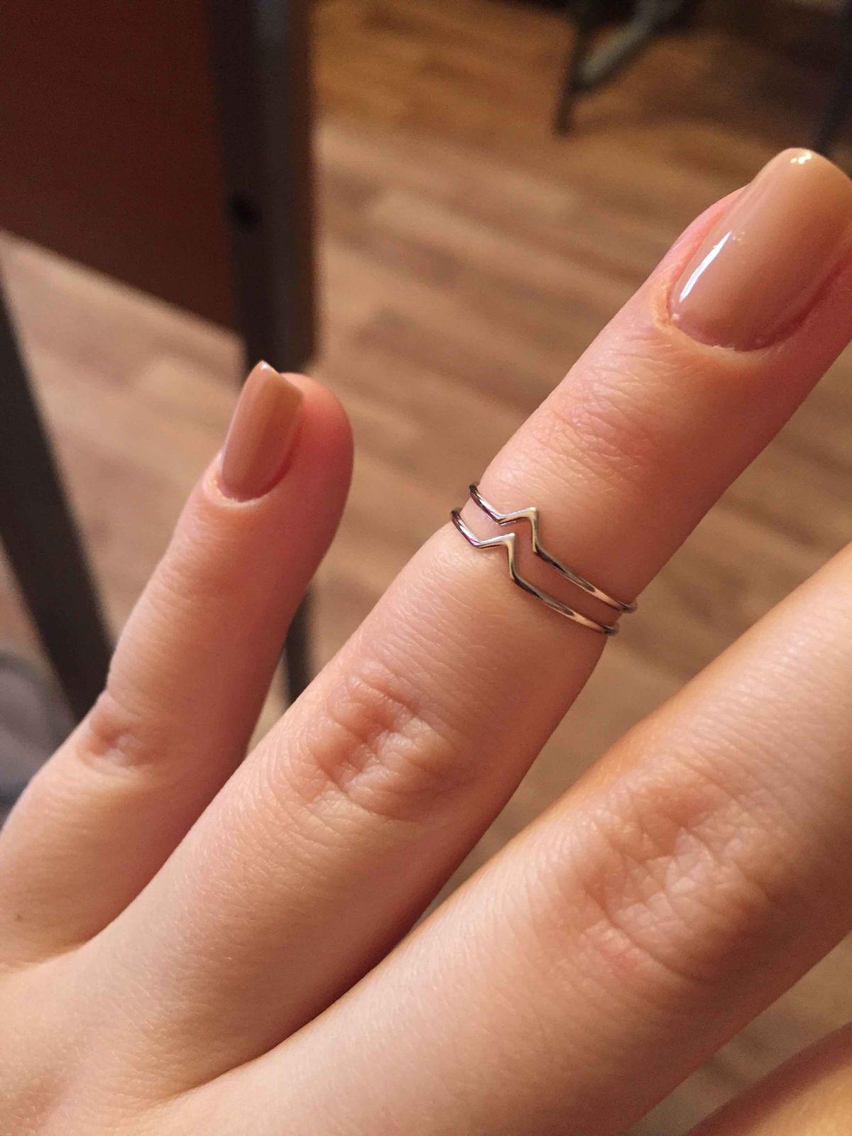 Кольцо серебренное на фалангу пальцев