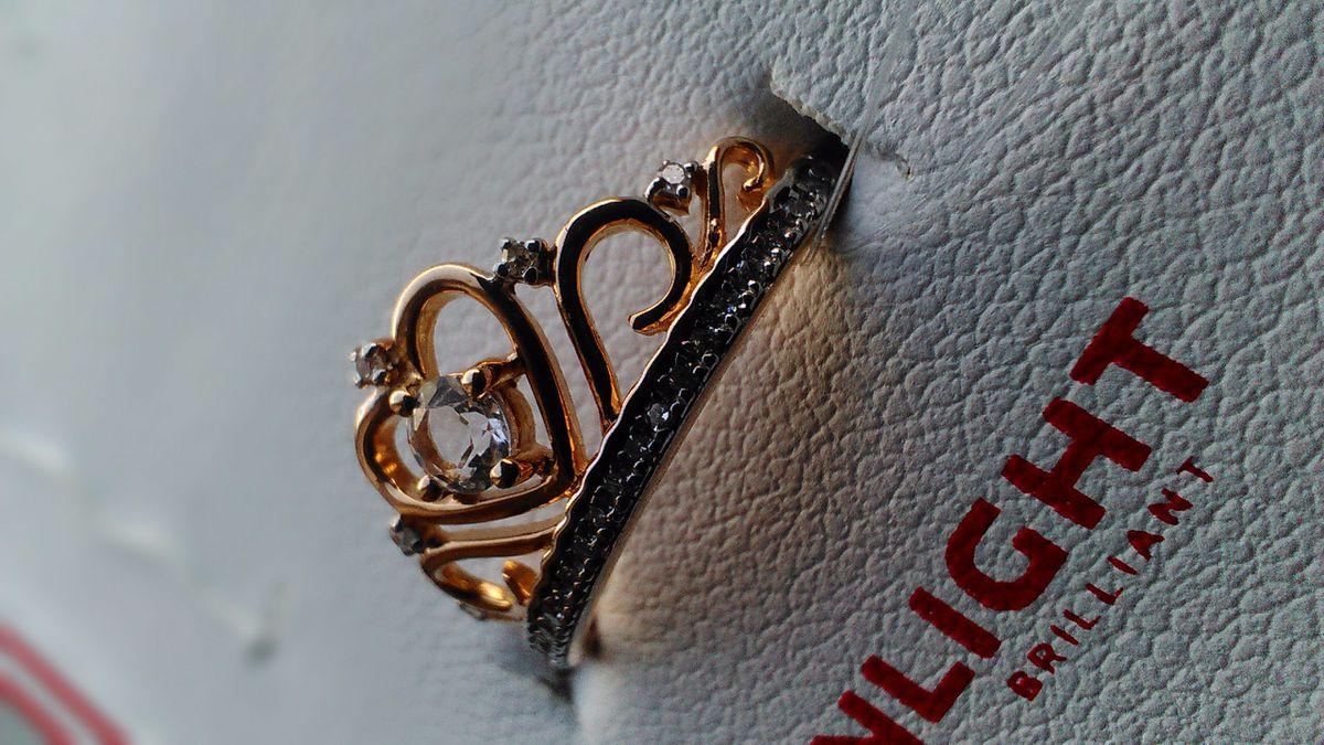 Кольцо Корона, розовое золото