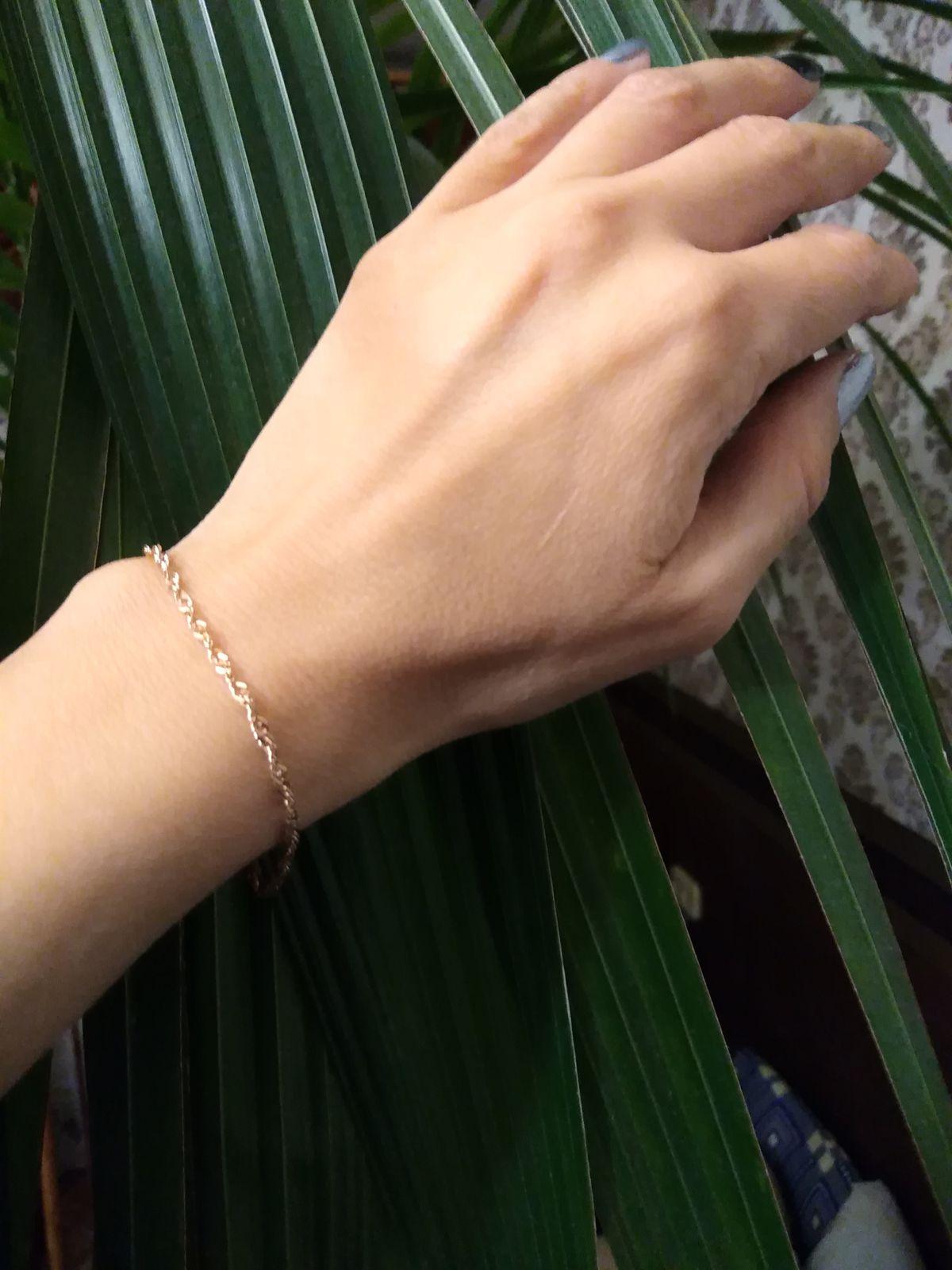 Серебряный браслетик с позолотой