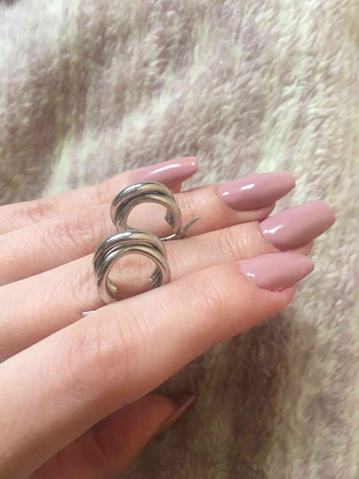 Модные серьги-кольца