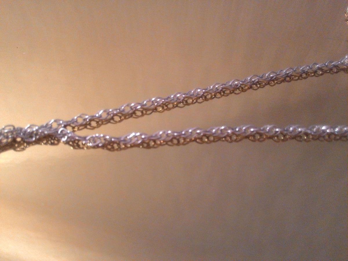 Серебряная цепочка, покупала в комплект с подвеской от sunlight