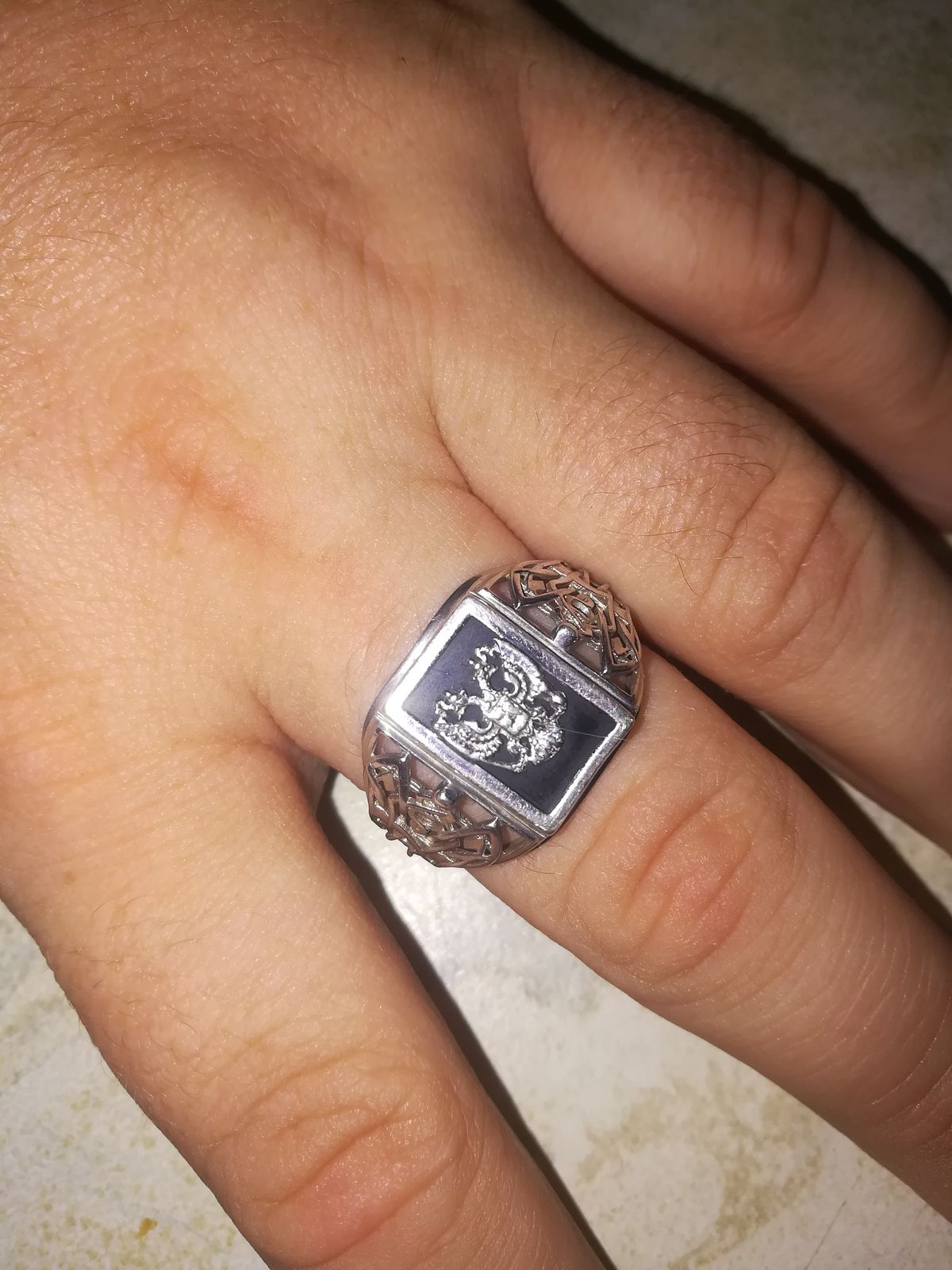 Брутальное мужское кольцо.
