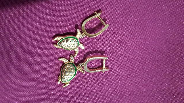 Серьги-черепашки