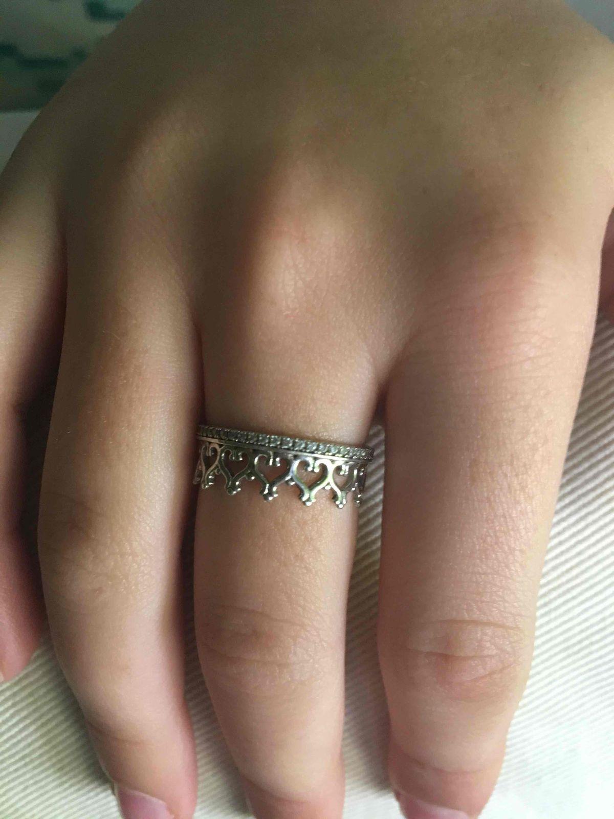 Серебряное кольцо для принцессы